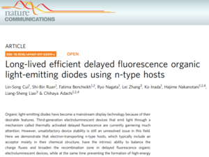 Long-lived efficient delayed fluorescence organic light-emitting diodes using n-type hosts 《Nature communications》